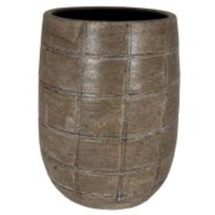 HS Potterie Industrieel Bruine Vaas/Pot Nairobi
