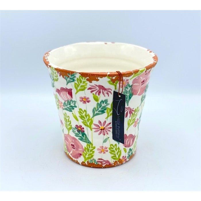 Villa Pottery  Gekleurde Pot Flowergarden Pink