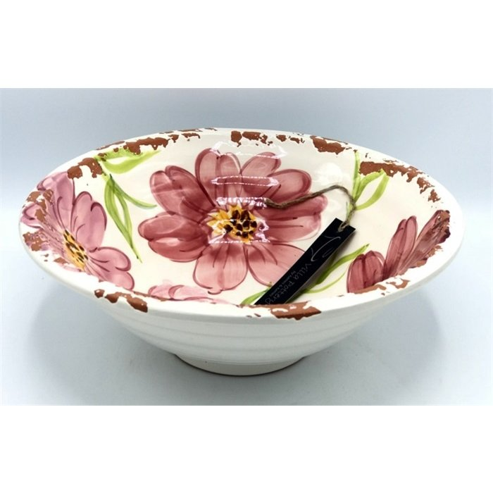Villa Pottery  Schaal Flowergarden Pink
