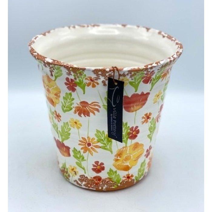 Villa Pottery  Multi Orange Pot Flowergarden