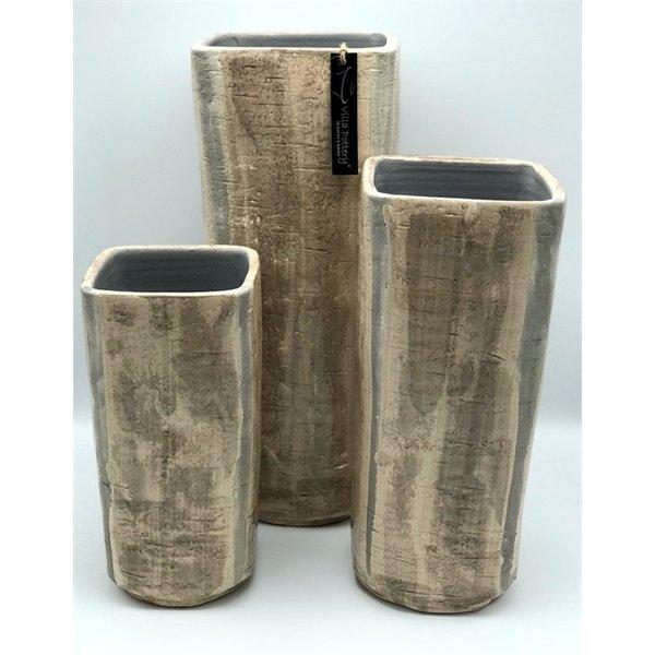 Villa Pottery  Bruine Pot - Vaas Luik