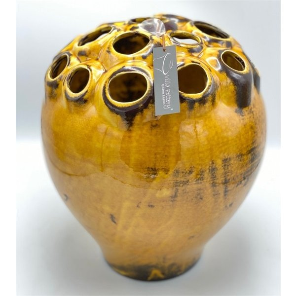 Villa Pottery  Gele vaas Coral D28 x H33