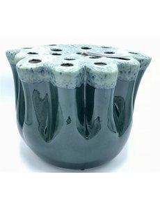 Villa Pottery  Blauwe Vaas Okki