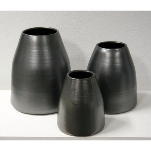 Villa Pottery  Antraciet vaas/pot X-design