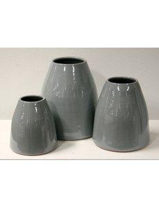 Villa Pottery  Grijze vaas/pot X-design