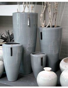 Villa Pottery  Grijze pot X-design XXL