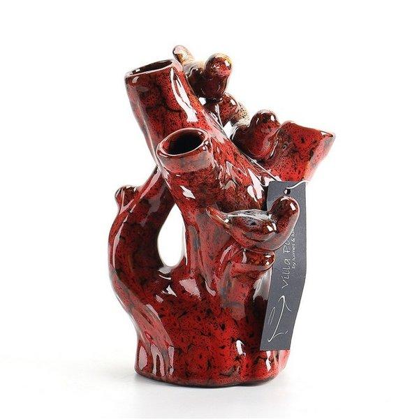 Villa Pottery  Rode vaas Domingo
