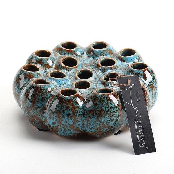 Villa Pottery  Blauwe Vaas Aruba