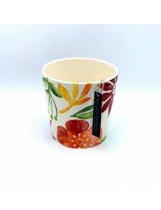 Villa Pottery  Bloemen Pot Orange Ancona