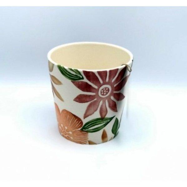 Villa Pottery  Bloemen Pot Rood Ancona