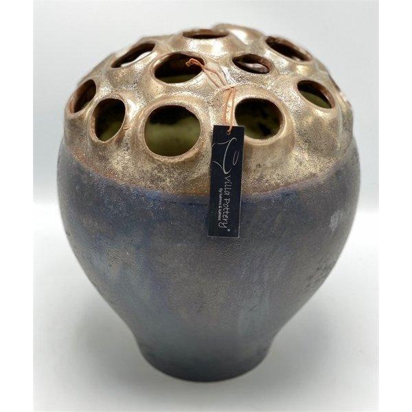 Villa Pottery  Copper vaas Coral D28 x H33