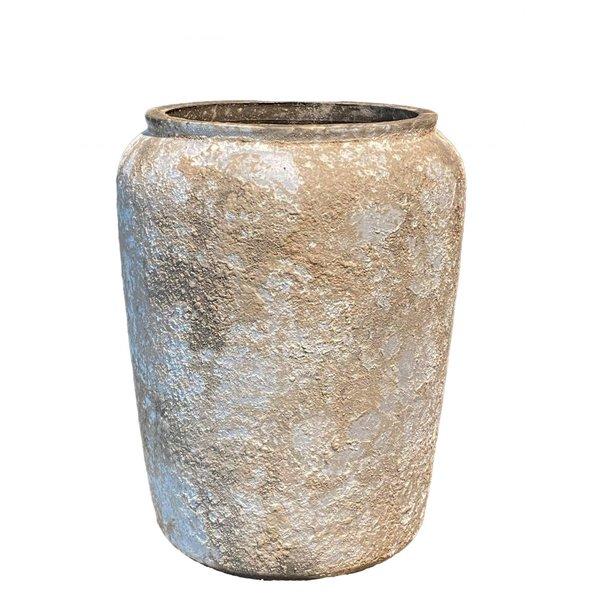 HS Potterie Cement rode vaas-pot Napoli