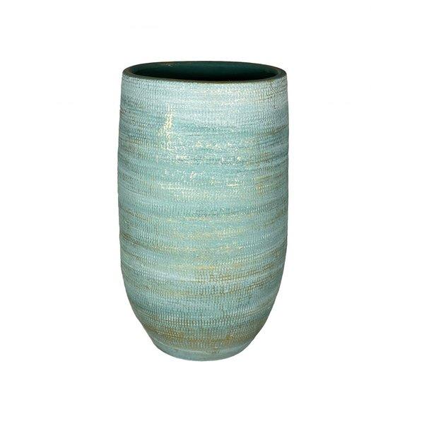 HS Potterie Aqua Blauw/Groene Vaas - Pot Tokio