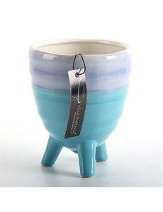 Villa Pottery  Blauwe pot Ibiza
