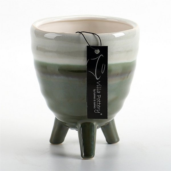 Villa Pottery  Donker groene pot Ibiza