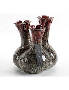 Villa Pottery  Zwart tuit vaas Quito