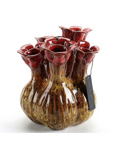 Villa Pottery  Gele 5x tuit vaas Quito