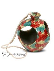 Villa Pottery  Open HangPot Florida MultiColor