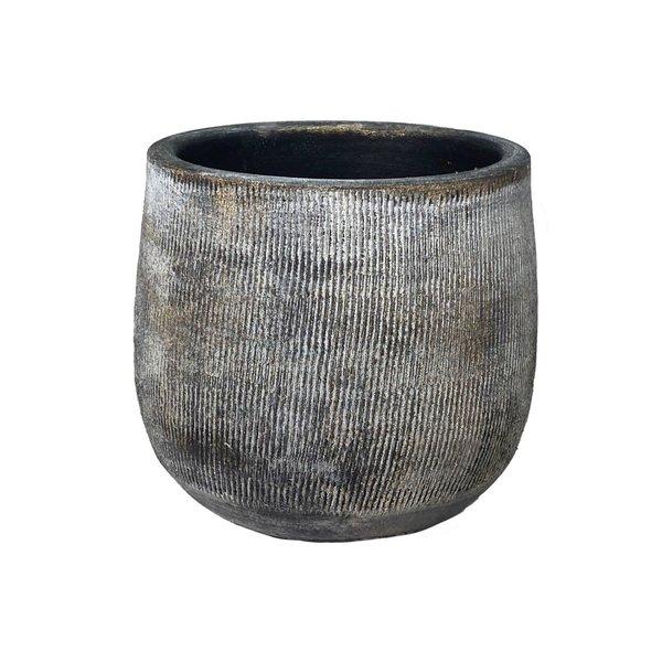 HS Potterie Bloempot Miami Zwart - Cement