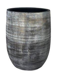 HS Potterie Vaas Zwart - Cement Miami