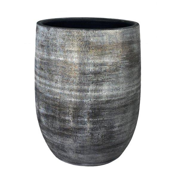 HS Potterie Bloempot-Vaas Zwart - Cement Miami