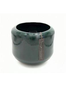 Villa Pottery  Donker Groene pot Kopenhagen 21x22