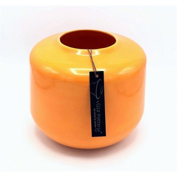 Villa Pottery  Oranje vaas Kopenhagen 21x22