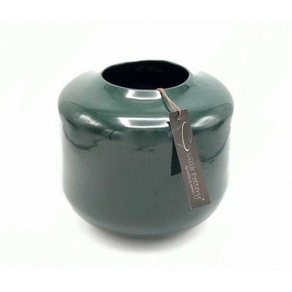 Villa Pottery  Donker Groene vaas Kopenhagen 21x22
