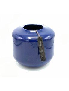 Villa Pottery  Blauwe vaas Kopenhagen 21x22