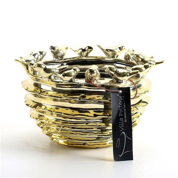 Villa Pottery  Gouden vogelpot Trinidad