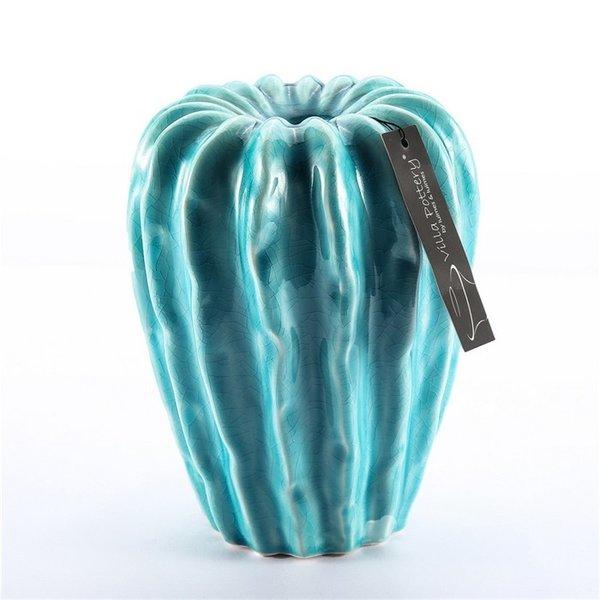 Villa Pottery  Blauwe vaas Claire 13x16