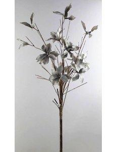 Villa Pottery  Foam bloemen met takken Baroness more grey