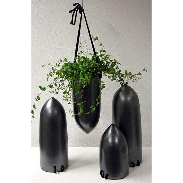 Villa Pottery  Cone pot metal 14x30