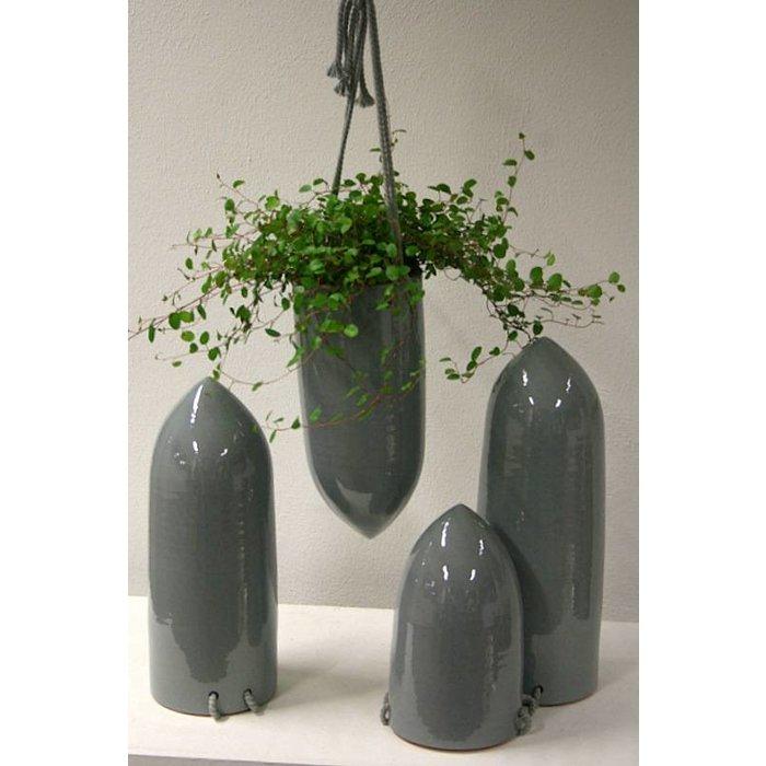 Villa Pottery  Cone pot grey 14x35