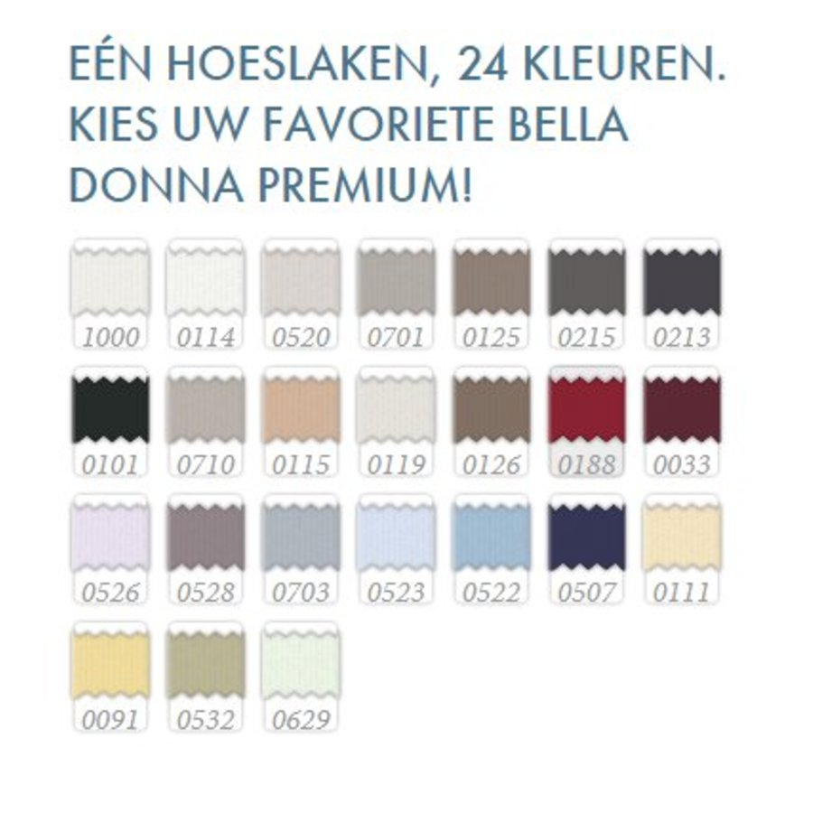 Bella Donna Premium Jersey Hoeslaken - Karmijnrood (0188)