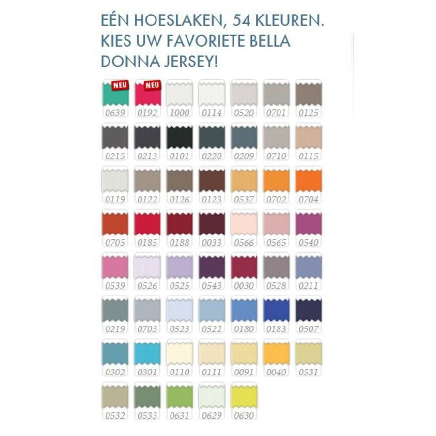 Bella Donna Jersey Hoeslaken - Zwart (0101)