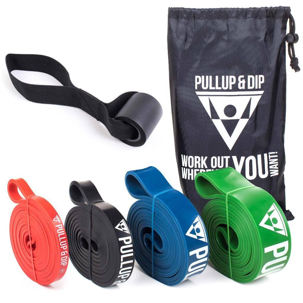 Bandes élastiques de résistance avec différents niveaux de résistance incluant un sac, ancre de porte et un livre électronique GRATUIT