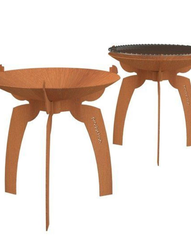 Cortenstaal Design Vuurschaal en BBQ (Doran)