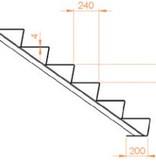 Cortenstaal Trap vanaf 2 t/m 17 treden