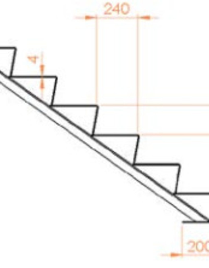 Cortenstaal Trap 2 treden