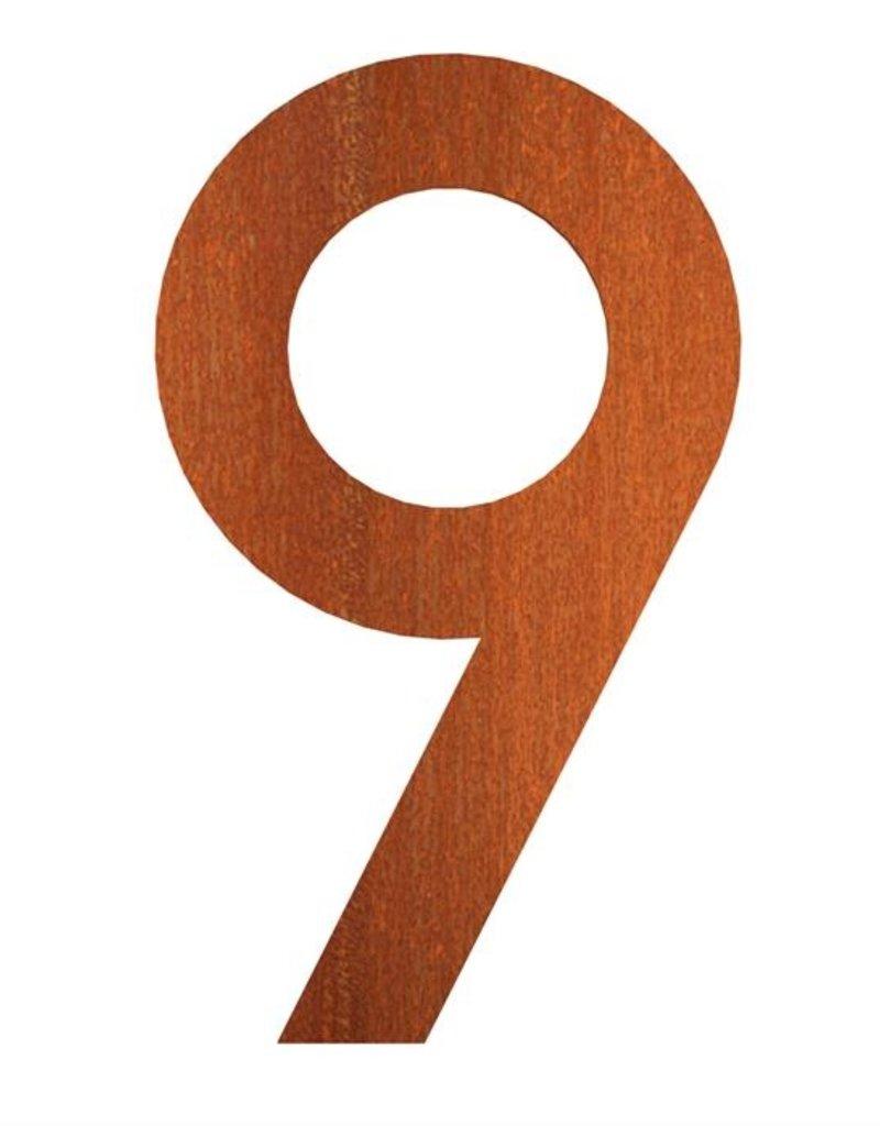 Cortenstaal Huisnummers 0 t/m 9