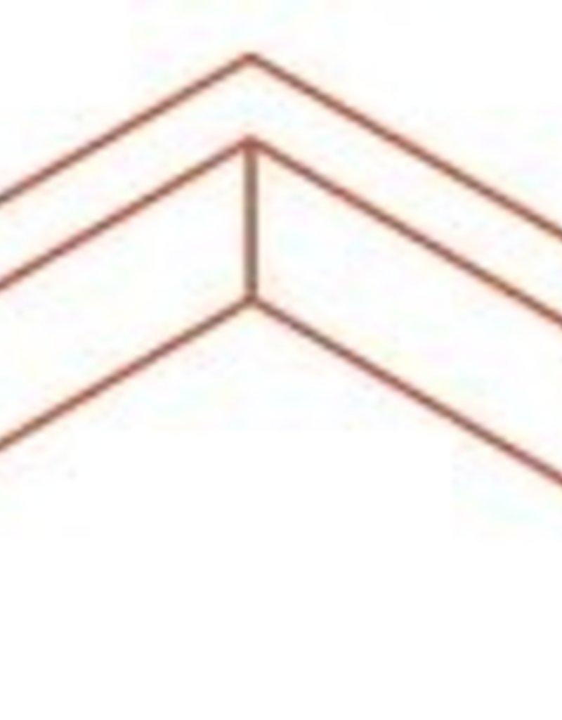 Cortenstaal buitenhoek gezet