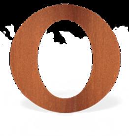 Cortenstaal Rozet Ovaal 154mm