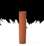 Cortenstaalrookgasafvoer met regelklep 154x750mm