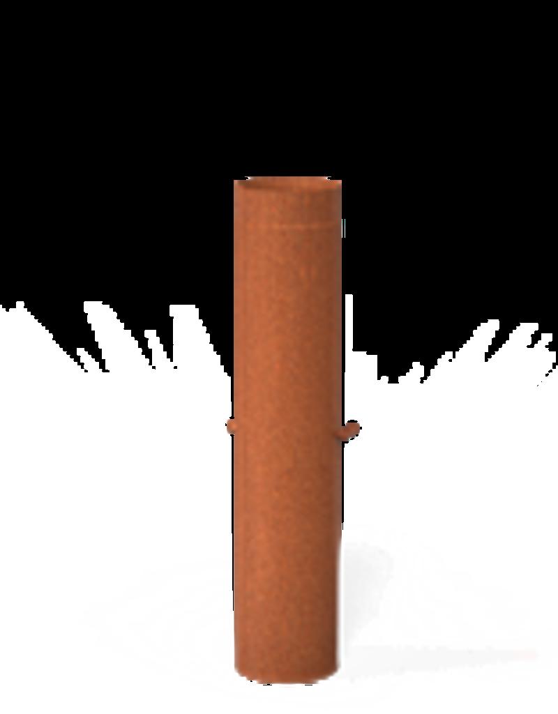 Cortenstaal Rookgasafvoer met regelklep