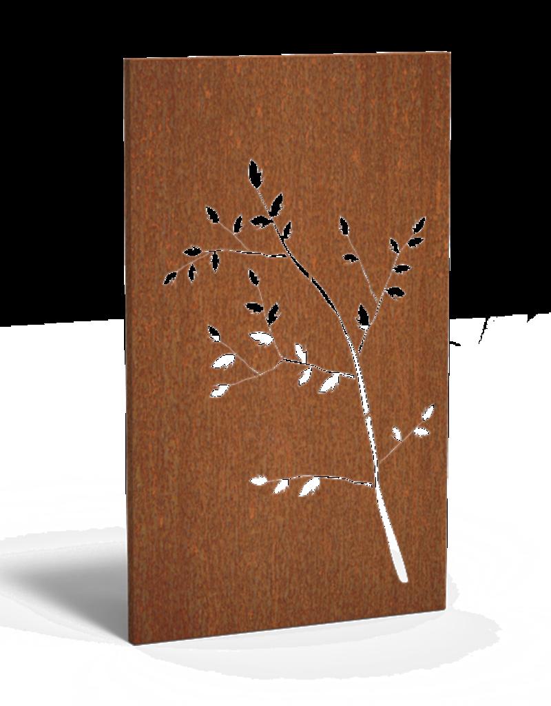 Cortenstaal Tuinscherm/Sfeerpaneel Natuur
