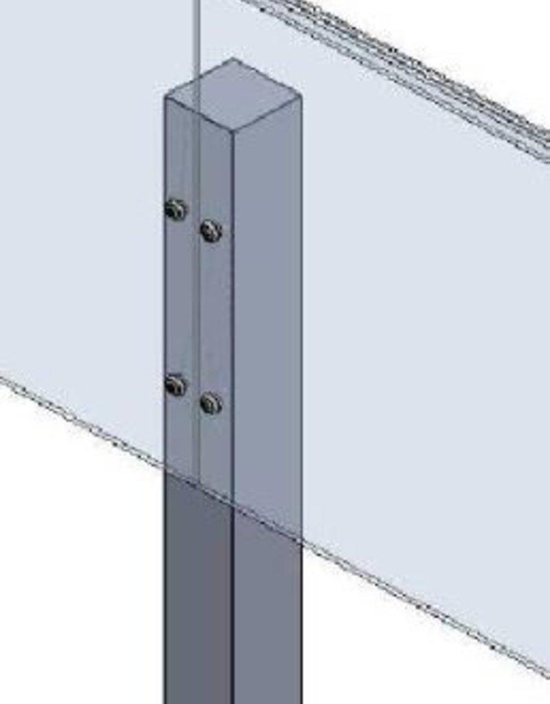 Piketpalen (hardhout 25st) voor kantopsluiting