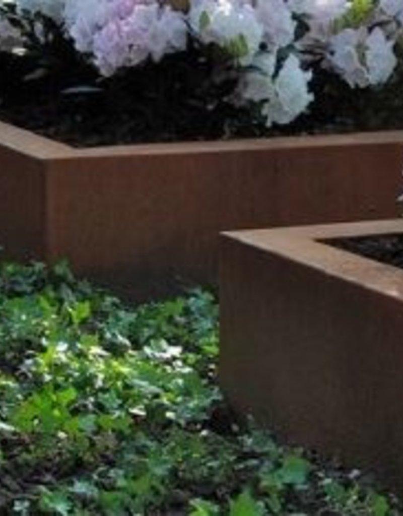 Cortenstaal Plantenbak Vierkant Zonder Bodem