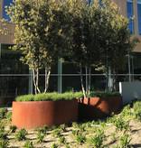 Cortenstaal Plantenbak Rond Zonder Bodem
