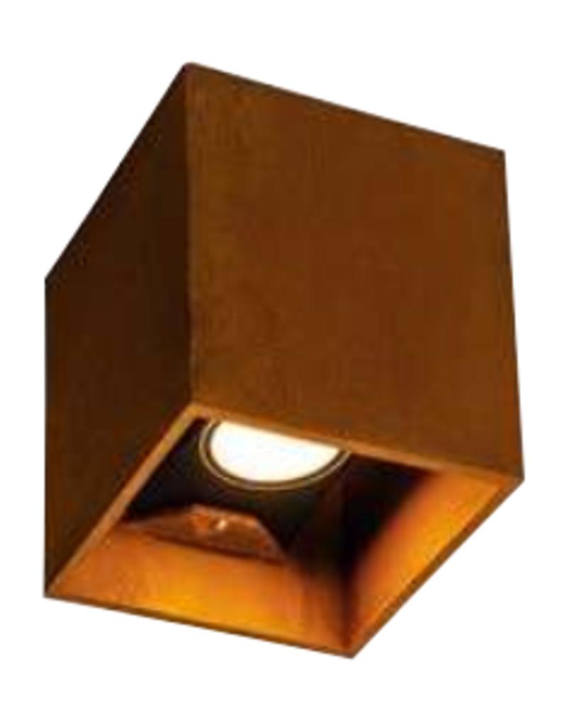 Cortenstaal Uplighter Vierkant